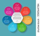 vector infographic template  7...   Shutterstock .eps vector #558564784