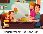 a vector illustration of family ... | Shutterstock .eps vector #558565684