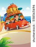 a vector illustration of family ... | Shutterstock .eps vector #558565696