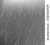 rain transparent template... | Shutterstock .eps vector #558566509