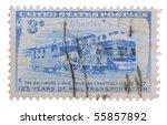 usa   circa 1952  a stamp... | Shutterstock . vector #55857892