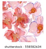 hand drawn watercolor... | Shutterstock . vector #558582634