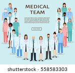 medical team. group doctors and ... | Shutterstock .eps vector #558583303