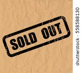sold out text rubber seal stamp ... | Shutterstock .eps vector #558588130