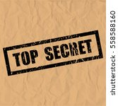 top secret text rubber seal... | Shutterstock .eps vector #558588160