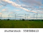 wind turbine farm   environment ... | Shutterstock . vector #558588613