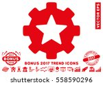 red star favorites options gear ... | Shutterstock .eps vector #558590296