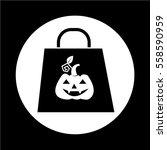 halloween pumpkin icon | Shutterstock .eps vector #558590959