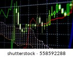 abstract financial trading... | Shutterstock . vector #558592288