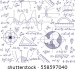 hand drawn mathematical vector... | Shutterstock .eps vector #558597040