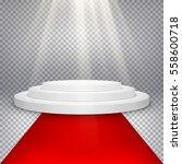 round podium  pedestal or... | Shutterstock .eps vector #558600718