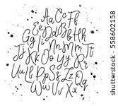 vector hand drawn alphabet.... | Shutterstock .eps vector #558602158