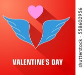 light flat romantic template...   Shutterstock .eps vector #558602956