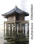 Temple Above Water In Lake Of...