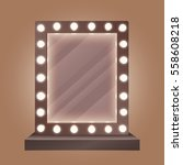 realistic makeup mirror with... | Shutterstock .eps vector #558608218