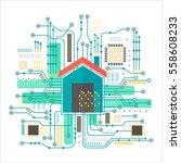 vector smart home concept....   Shutterstock .eps vector #558608233
