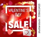valentine's day sale. | Shutterstock .eps vector #558611410