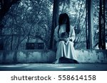 scary ghost woman in haunted... | Shutterstock . vector #558614158