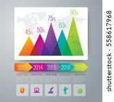 graph infographic design vector ... | Shutterstock .eps vector #558617968