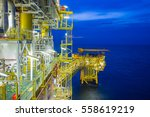 offshore oil and gas central... | Shutterstock . vector #558619219