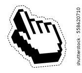 hand pointer cursor icon vector ... | Shutterstock .eps vector #558620710