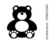 bear teddy toy isolated icon... | Shutterstock .eps vector #558622360