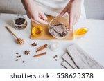 making organic scrub handmade... | Shutterstock . vector #558625378