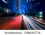 Hong Kong City Street View At...