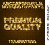 premium quality golden glowing... | Shutterstock .eps vector #558633604