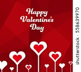 square banner happy valentine's ... | Shutterstock .eps vector #558639970