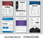 set flyers with technical... | Shutterstock .eps vector #558640288