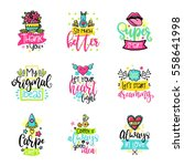 vector calligraphy with decor... | Shutterstock .eps vector #558641998