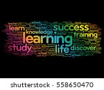 learning word cloud collage ... | Shutterstock .eps vector #558650470