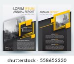 abstract vector modern flyers... | Shutterstock .eps vector #558653320
