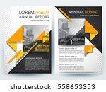 abstract vector modern flyers... | Shutterstock .eps vector #558653353