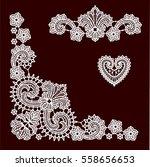lace clip art | Shutterstock .eps vector #558656653