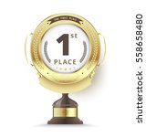 gold trophy for first place.... | Shutterstock .eps vector #558658480