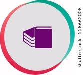 book  icon. vector design.   Shutterstock .eps vector #558662008