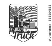 big truck car logo illustration ... | Shutterstock .eps vector #558664888