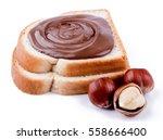 hazelnut chocolate spread with... | Shutterstock . vector #558666400