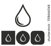 oil   black and white icons.... | Shutterstock .eps vector #558666568