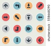 set of 16 simple indicator... | Shutterstock .eps vector #558668290