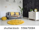 room with sofa  dresser ... | Shutterstock . vector #558670084