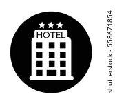 hotel icon | Shutterstock .eps vector #558671854