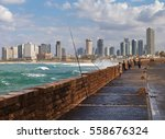 view from a promenade to the... | Shutterstock . vector #558676324