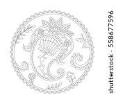 vector illustration of paisley. ... | Shutterstock .eps vector #558677596