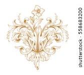 gold vintage baroque ornament... | Shutterstock .eps vector #558683200
