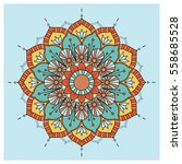 vintage colorful mandala with... | Shutterstock .eps vector #558685528