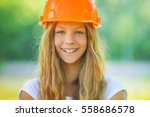 portrait of beautiful teenage... | Shutterstock . vector #558686578