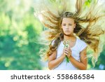 portrait of beautiful teenage... | Shutterstock . vector #558686584